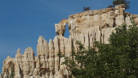 Orgues of ille sur Tet near Perpignan France. Natural formation of rock look like pipe of organ Stock Photo