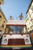 Orgulho 2009 de Roma, o barramento oficial fotografia de stock royalty free