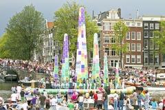 Orgulho alegre 2011, Amsterdão Imagens de Stock Royalty Free