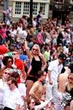 Orgulho alegre 2011 de Amsterdão foto de stock royalty free