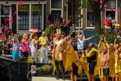 Orgulho alegre 2014 de Amsterdão Foto de Stock Royalty Free