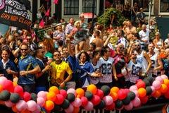 Orgulho alegre 2014 de Amsterdão Fotos de Stock Royalty Free