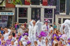 Orgulho alegre 2014 de Amsterdão Fotografia de Stock