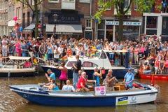 Orgulho alegre 2014 de Amsterdão Imagens de Stock Royalty Free