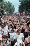 Orgulho alegre de Paris, cena da multidão fotos de stock royalty free