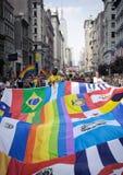 Orgulho alegre março 2010 de New York Imagem de Stock