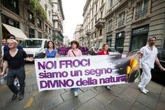 Orgulho alegre Milão junho 12, 2010 Imagem de Stock