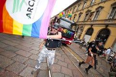 Orgulho alegre Milão junho 12, 2010 Foto de Stock