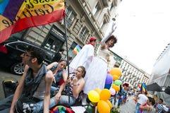 Orgulho alegre Milão junho 12, 2010 Imagens de Stock