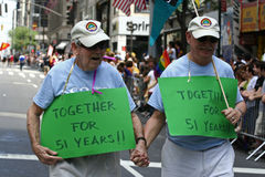 Orgulho alegre Parade2 de New York Imagens de Stock Royalty Free