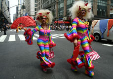 Orgulho alegre Parade4 de New York fotografia de stock