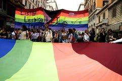 Orgulho da lésbica Fotografia de Stock Royalty Free