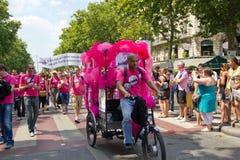 Orgulho de 2010 homossexual em Paris France Imagens de Stock Royalty Free