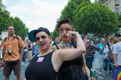 Orgulho de 2010 homossexual em Paris France Foto de Stock