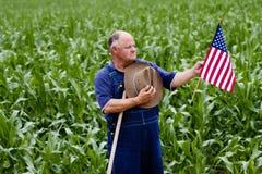 Orgulho no coração de América imagens de stock