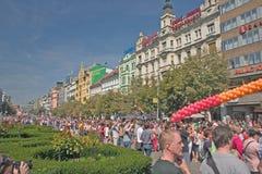 Orgulho Pararde 2012 de Praga Fotografia de Stock