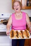 Orgulhosa senhora mais idosa de Happpy Foto de Stock Royalty Free
