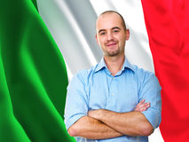 Orgulhoso italiano imagem de stock