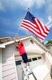 Orgulhoso ser um americano Fotografia de Stock