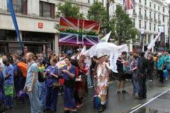 Orgullo alegre 2012 del mundo de Londres Fotografía de archivo libre de regalías