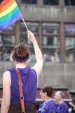 Orgullo alegre el marzo de 2010 de Nueva York Imágenes de archivo libres de regalías