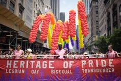 Orgullo alegre el marzo de 2010 de Nueva York Fotos de archivo