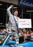 Orgullo alegre el marzo de 2010 de Nueva York Imagenes de archivo