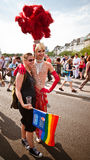 Orgullo alegre París 2010 del traje extravagante imagen de archivo