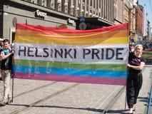 Orgullo de Helsinki, el 2 de julio de 2010, Helsinki Finlandia Imagen de archivo libre de regalías