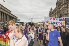 Orgullo 2017 de Liverpool Imágenes de archivo libres de regalías