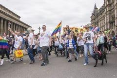 Orgullo 2017 de Liverpool Imagen de archivo libre de regalías