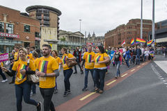 Orgullo de Liverpool - el amor no es ningún crimen Foto de archivo libre de regalías