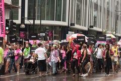 Orgullo 2014 de Londres Imagenes de archivo