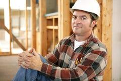 Orgullo de los trabajadores de construcción Imagenes de archivo