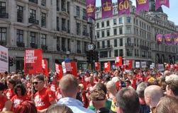 Orgullo gay 2013 de Londres Foto de archivo