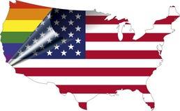 Orgullo gay de los E.E.U.U. Fotos de archivo libres de regalías
