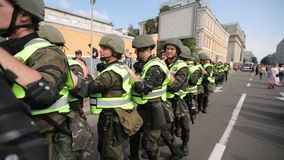 Orgullo gay 2017 en Kiev almacen de metraje de vídeo