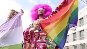 Orgullo gay 2017 en Kiev almacen de video
