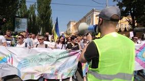 Orgullo gay 2017 en Kiev metrajes