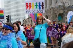 Orgullo gay procesión 23 de mayo de 2015 Imagenes de archivo
