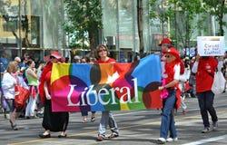 Orgullo liberal Foto de archivo libre de regalías