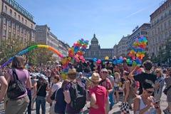 Orgullo Pararde 2012 de Praga Foto de archivo