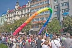 Orgullo Pararde 2012 de Praga Imagenes de archivo