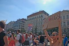 Orgullo Pararde 2012 de Praga Imagen de archivo libre de regalías