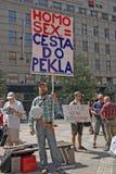 Orgullo Pararde 2012 de Praga Fotografía de archivo