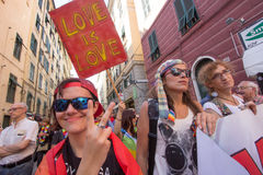 2016 orgullos gay Génova Fotos de archivo