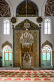 Orhan Gazi Mosque in Bursa, Turkey. Bursa, Turkey - February 04, 2017: Interior of the Orhan Gazi Mosque Orhan Camii in Bursa Royalty Free Stock Photography