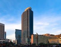 Oriëntatiepunt in Centraal Djakarta, Bunderan HALLO Royalty-vrije Stock Foto