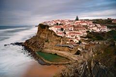 Oriëntatiepunt dichtbij Sintra, Lissabon, Portugal, Europa Landschap bij Zonsondergang stock afbeelding