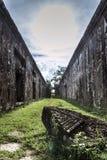 Oriëntatiepunt van de tempelruïnes van Preahvihear het oude Khmer in Kambodja Royalty-vrije Stock Afbeeldingen